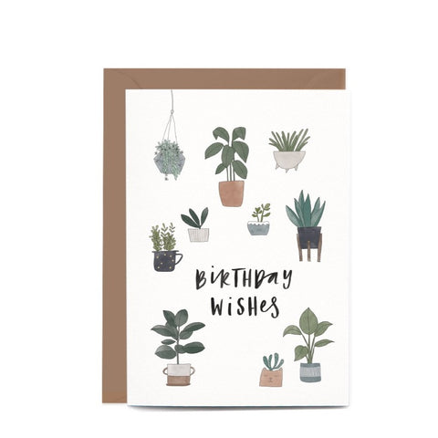 Greeting Card / Birthday Potted Plants