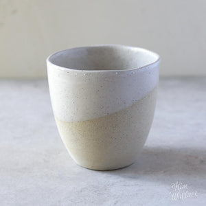 Handmade Mug / White on Stone