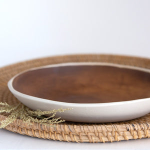 Handmade Serving Bowl / Rust