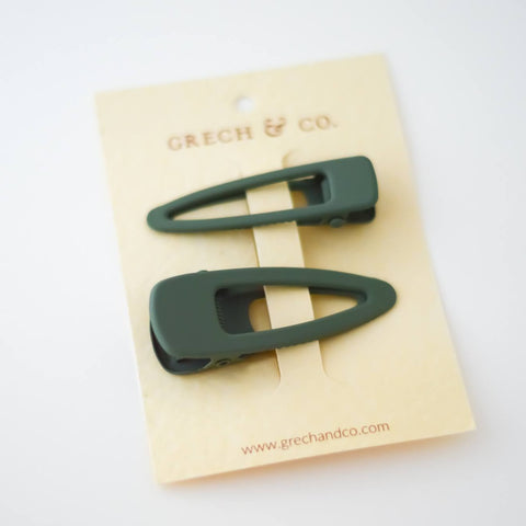 Matte Hair Clips Set of 2 / Fern