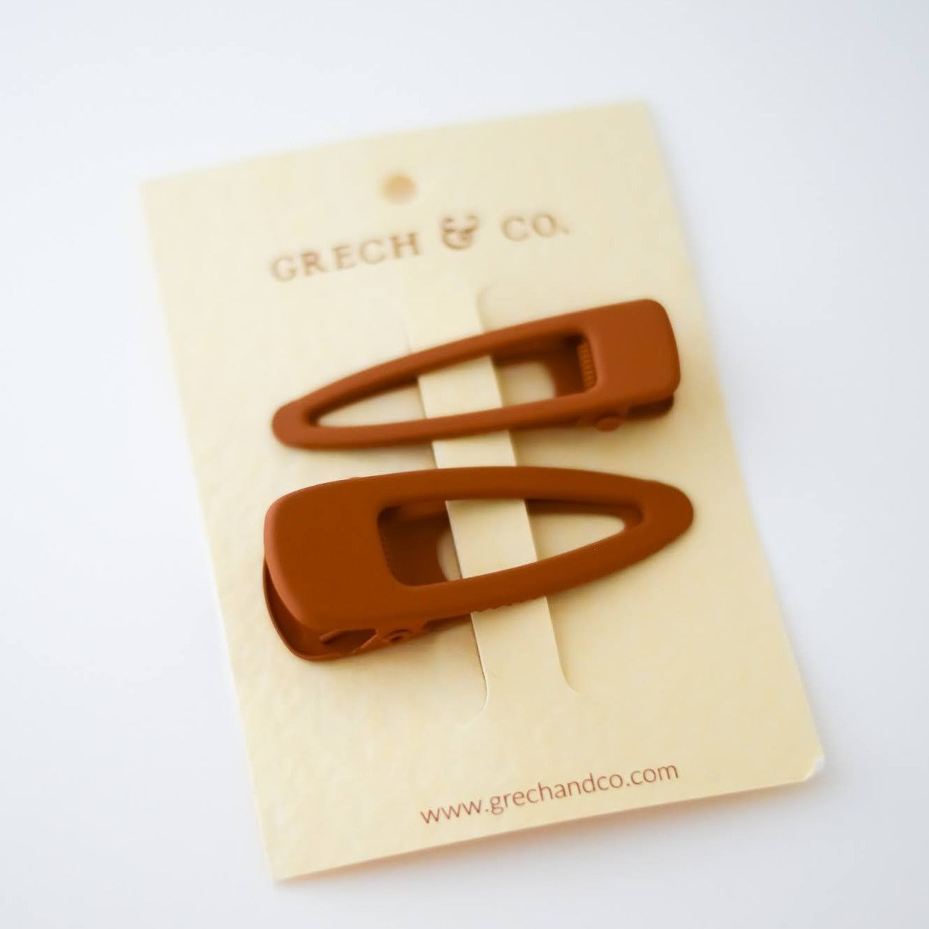 Matte Hair Clips Set of 2 / Spice