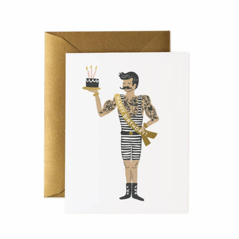 Greeting Card / Birthday Strongman