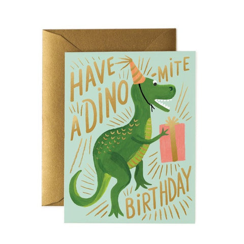 Greeting Card / Dino-mite Birthday