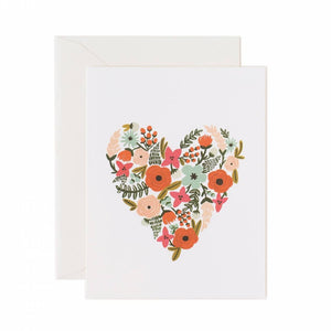 Greeting Card / Floral Heart