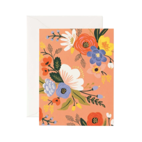 Greeting Card / Lively Floral Pink
