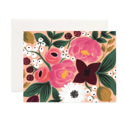 Greeting Card / Botanical Blossom Peach
