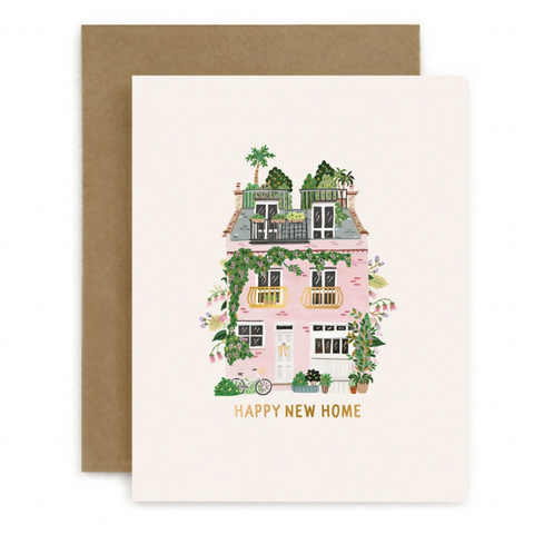 Letterpress Card / Happy New Home