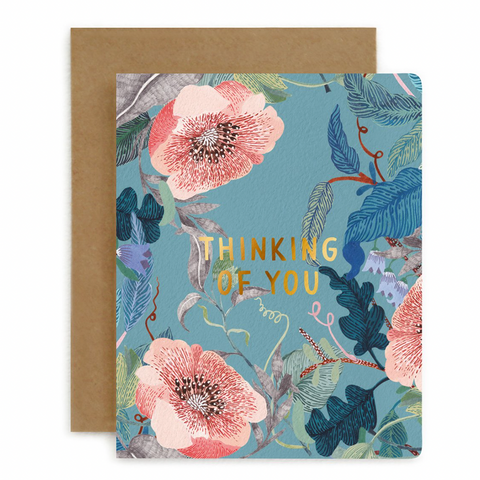 Letterpress Card / Thinking of You