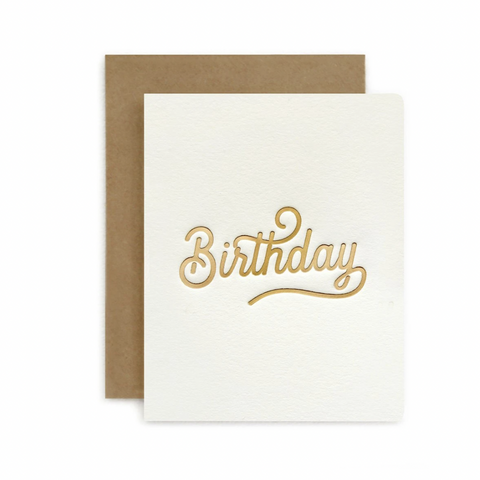Petite Letterpress Card / Birthday