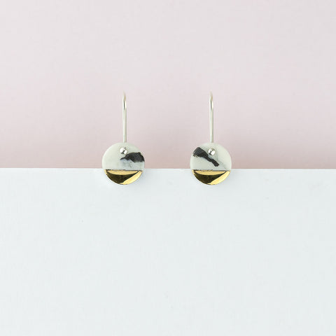 Spot Earrings / Marble