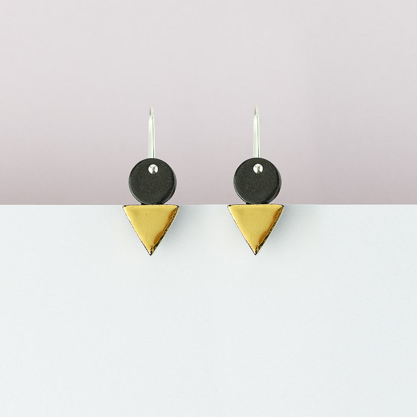 Tri Stack Earrings / Black