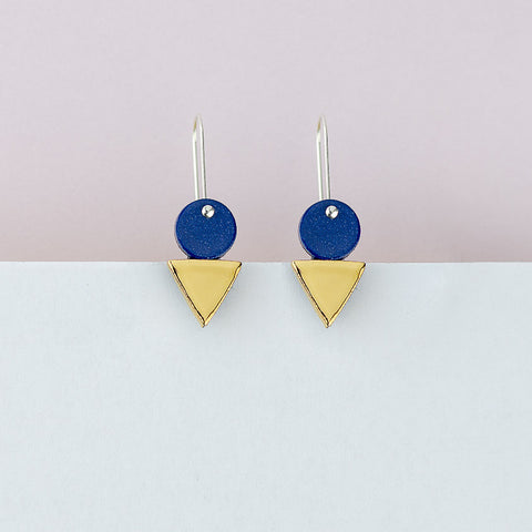 Tri Stack Earrings / Blue