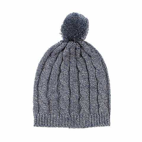 Arlo Cable Knit Baby Hat / Denim