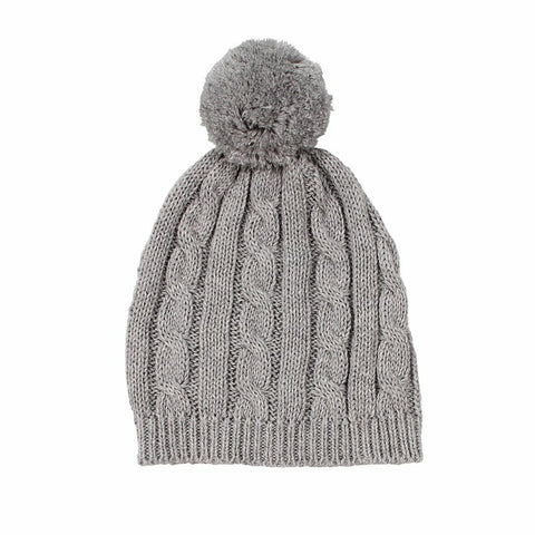 Arlo Cable Knit Baby Hat / Grey