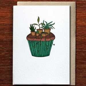 Greeting Card / Cupcake Garden
