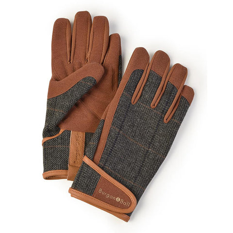 'Dig The Garden' Gloves / Brown Tweed
