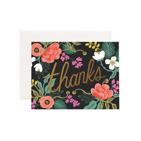Greeting Card / Floral Thankyou