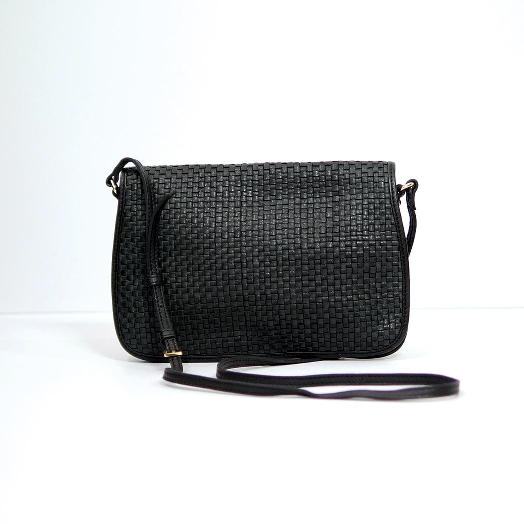 Thorne Woven Clutch / Black