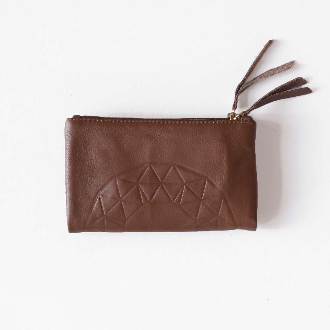Ash Embossed Wallet / Tan