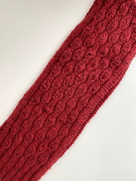 Brushed Fleece Scarf / Red
