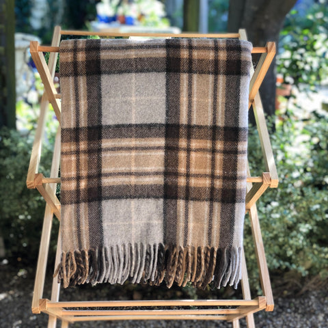 Wool Scottish Tartan Blanket / Winter