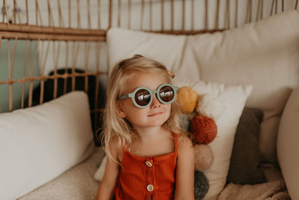Sustainable Kids Sunglasses / Golden