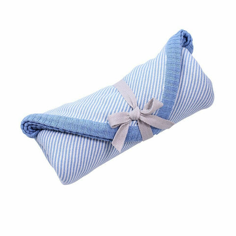 Cotton Jersey Baby Wrap / Baby Blue