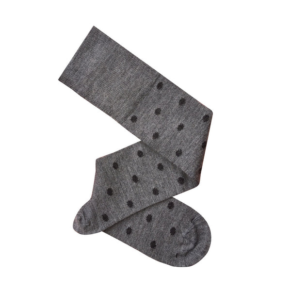 Dotty Knee Length Socks / Grey