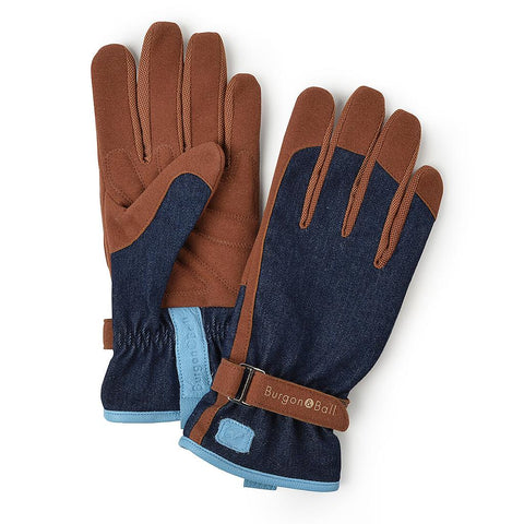 'Love The Garden' Gloves / Denim