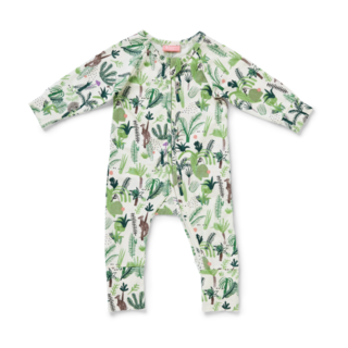 Long Sleeve Zipsuit / Fern Gully