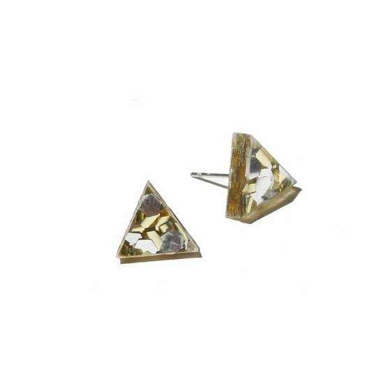 Mini Triangle Stud Earrings / Gold