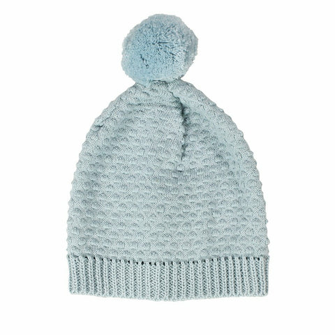 Newbie Cotton Knitted Baby Hat / Blue