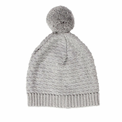 Newbie Cotton Knitted Baby Hat / Grey