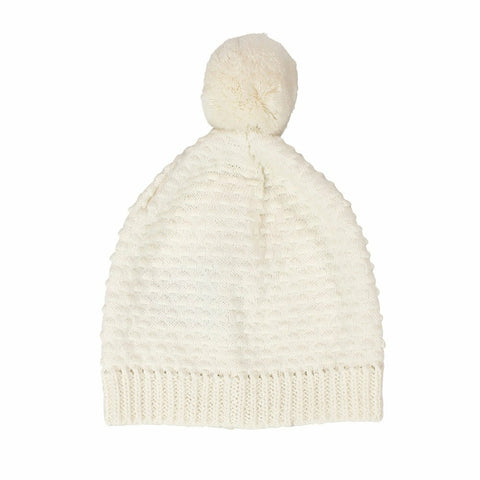 Newbie Cotton Knitted Baby Hat / Ivory