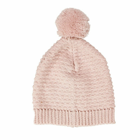 Newbie Cotton Knitted Baby Hat / Pink