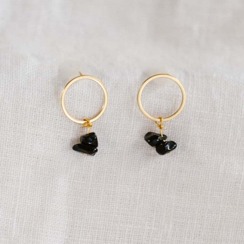 Ocean Earrings / Onyx