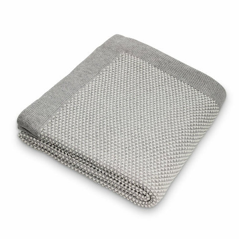 Pixie Cotton Knit Blanket / Grey