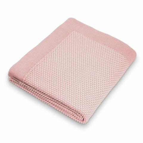 Pixie Cotton Knit Blanket / Pink