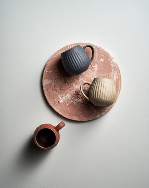 Tribe Mug Set / Dark Clay