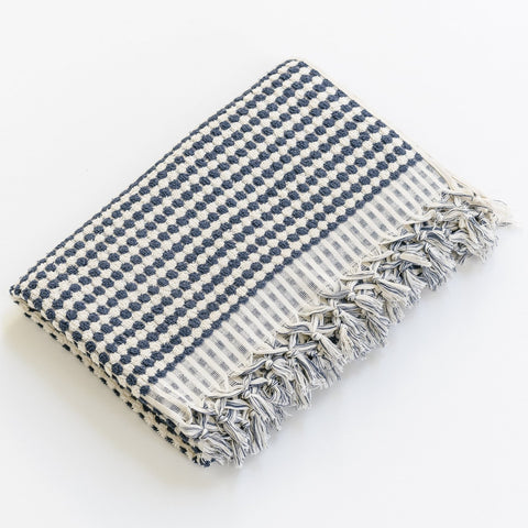 Turkish Bath Towel / Navy