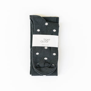 Dotty Knee Length Socks / Midnight