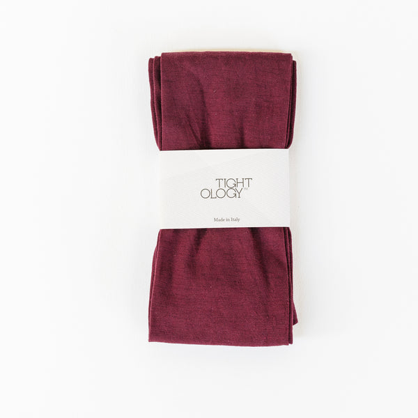 Luxe Wool Tights / Maroon
