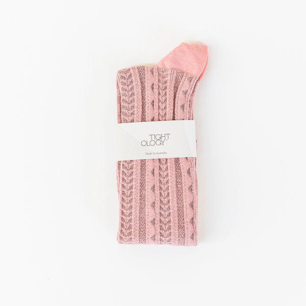 Tevere Long Socks / Coral Pink