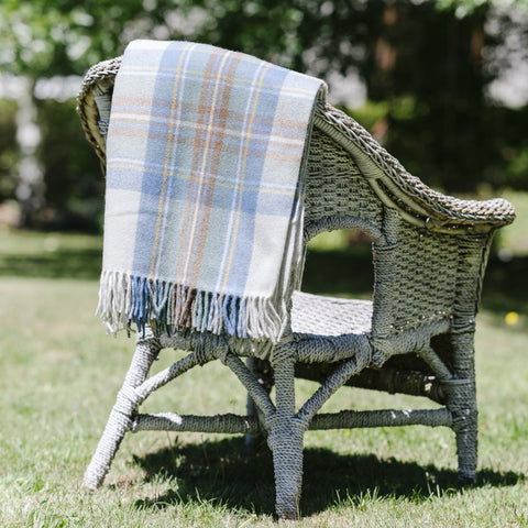 Wool Scottish Tartan Blanket / Spring