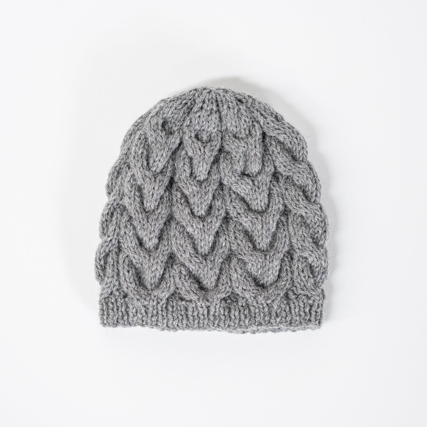 Knitted Wool Beanie / Grey