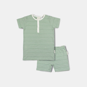 Summer PJ Set / Watercress Stripe