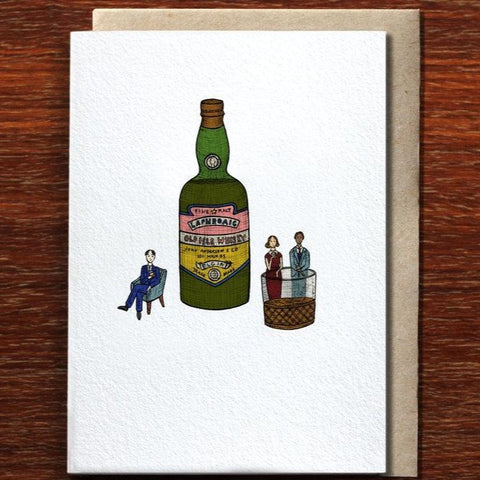 Greeting Card / Whisky O'Clock
