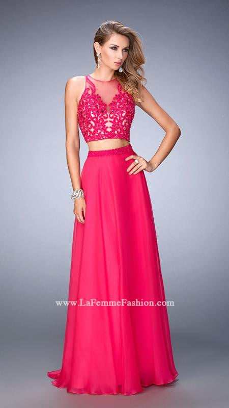 La Femme 22652 Hot Pink Two Piece Gown