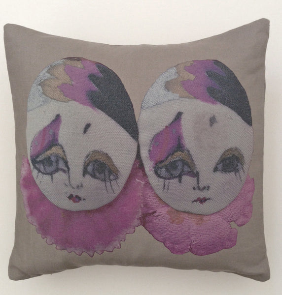 Anciennes Twins Pillow I - Gris