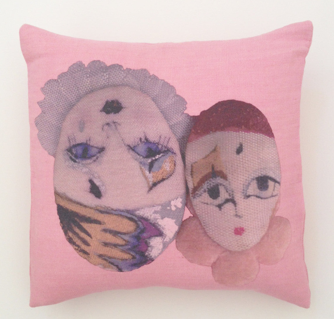 Anciennes Twins pillow II - Rose